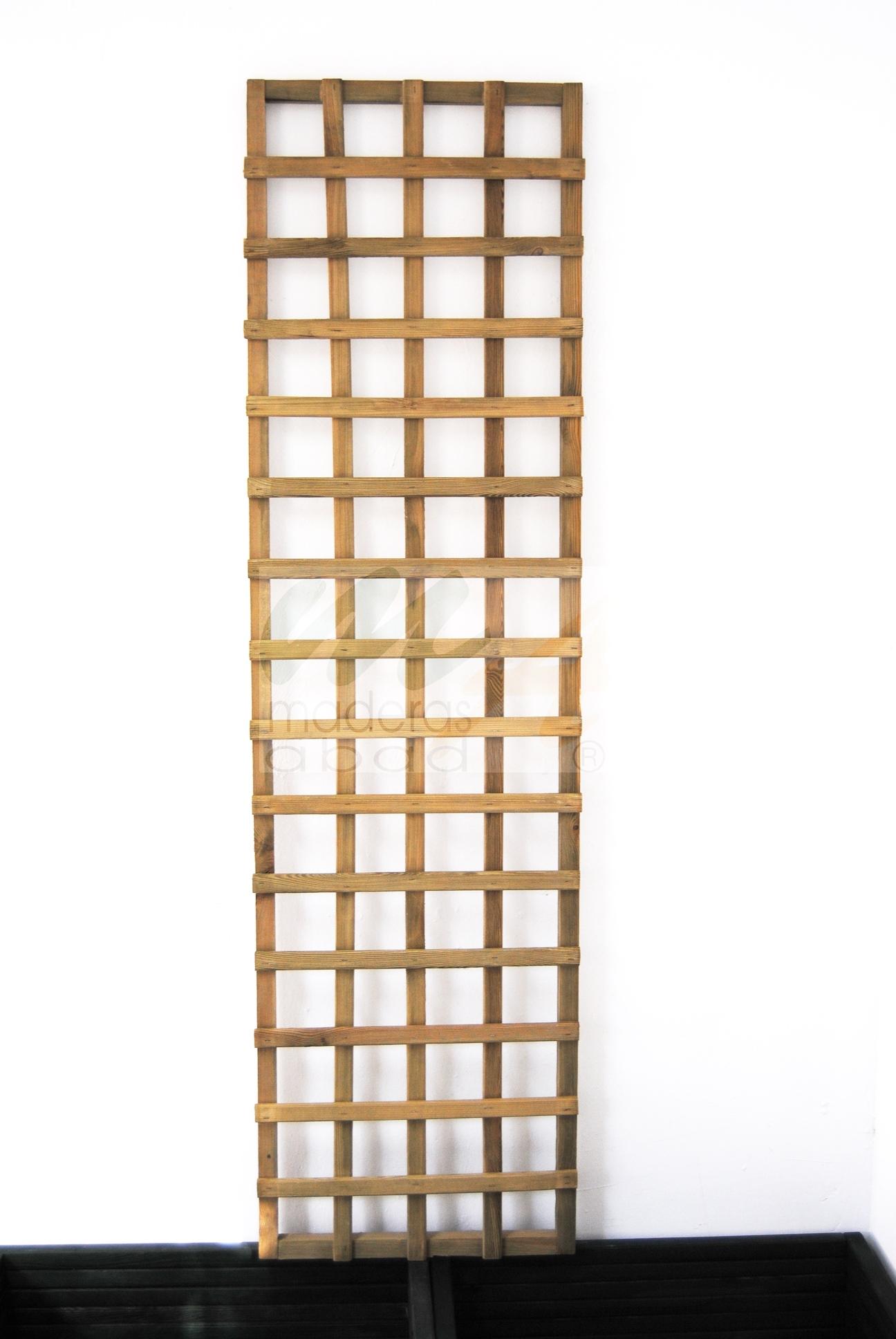 Outlet stock de celosias de madera para exteriores for Celosia de madera para jardin
