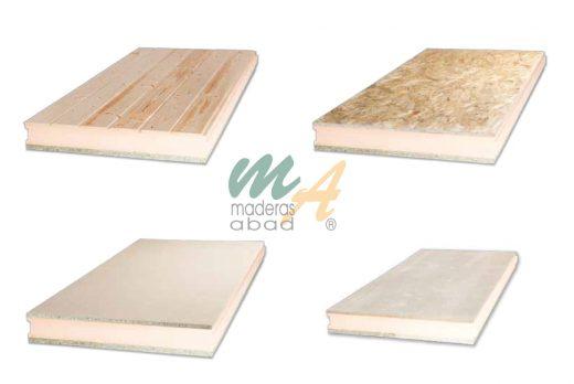 Maderas abad empresa de venta de productos relacionados for Sandwich para tejados de madera
